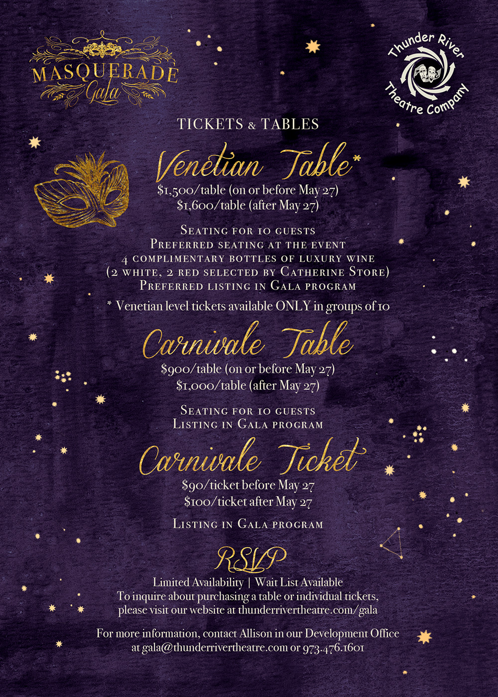 Ticket and Table Options